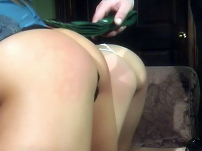 Naughty Teens Get Spanked With a Hair Brush-2